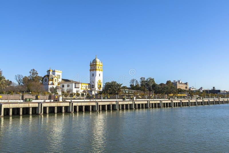 Guadalquivir-Fluss bei Sevilla, Spanien lizenzfreie stockfotos