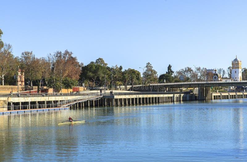 Guadalquivir-Fluss in Sevilla, Spain stockfoto