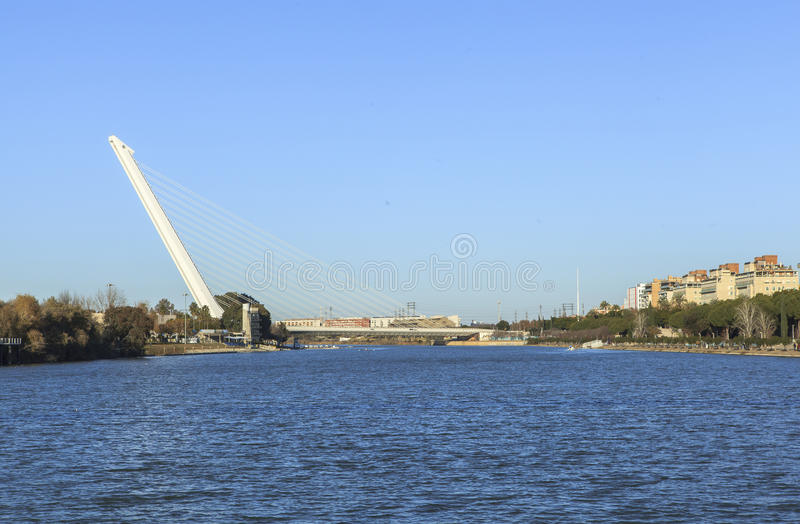 Guadalquivir-Fluss in Sevilla, Spain lizenzfreies stockfoto