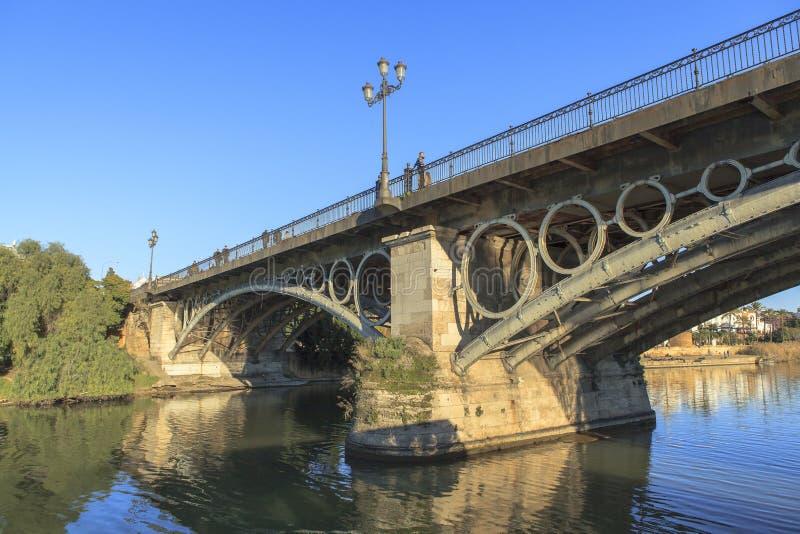 Guadalquivir-Fluss in Sevilla, Spain lizenzfreie stockbilder
