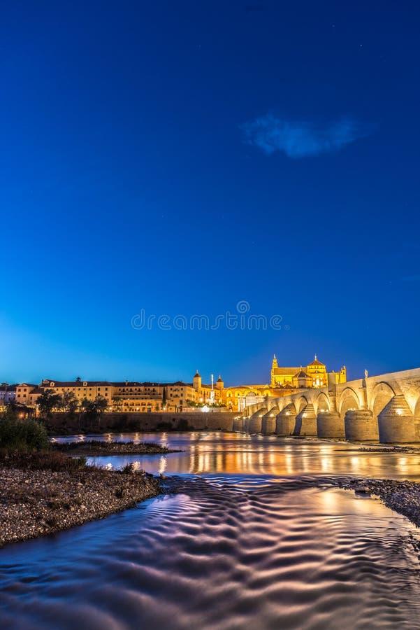Guadalquivir river in Cordoba, Andalusia, Spain. Guadalquivir river as it passes through the city of Cordoba in the province of Andalusia, Spain royalty free stock photography