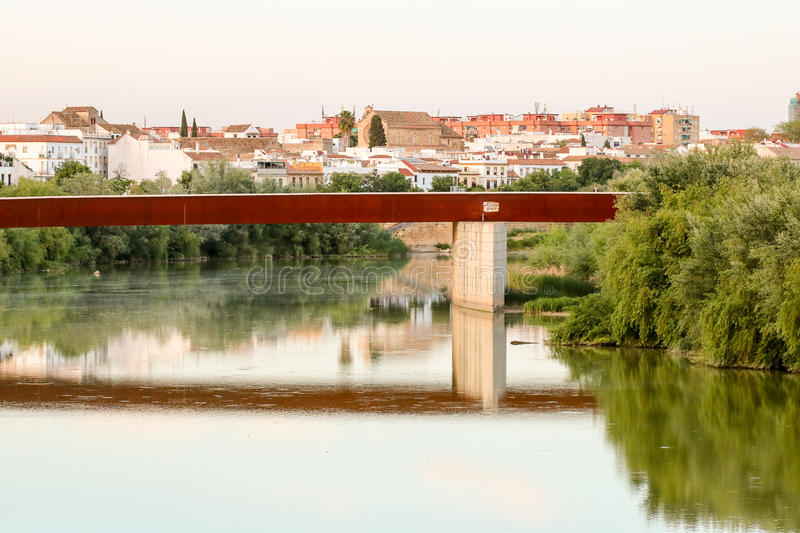 Guadalquivir River. Cordoba peaceful moment at the end of the day stock images