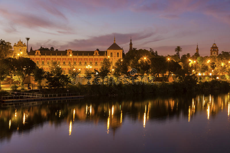 Guadalquivir River in Seville. Seville, Andalusia, Spain stock photo