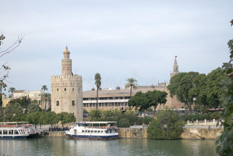 Guadalquivir river. Views of the Guadalquivir River stock photo