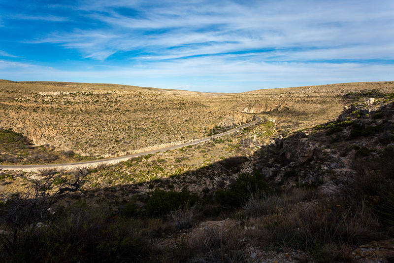 Guadalupe góry Teksas obrazy royalty free