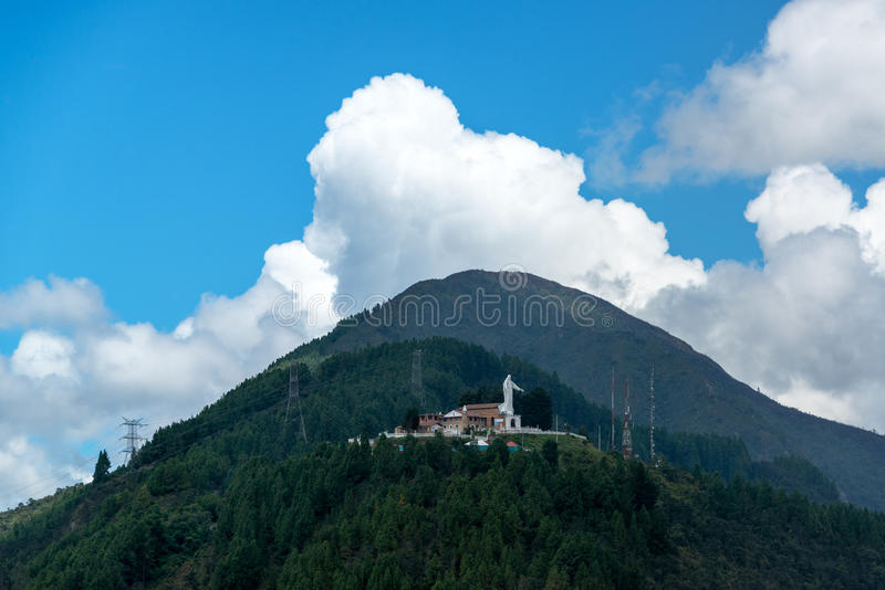 Guadalupe Hill in Bogota, Colombia royalty free stock photos