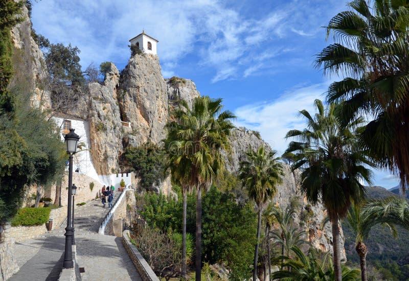Guadelest, el castillo imagenes de archivo