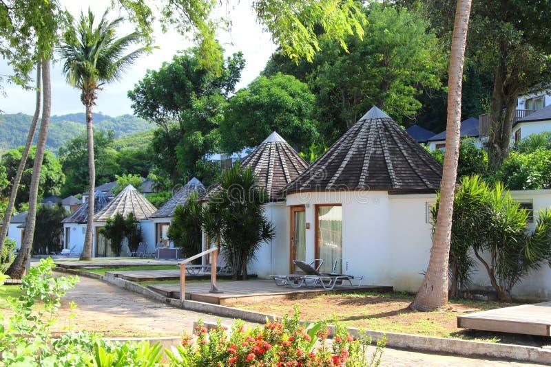 Guadeloupe bungalows stock image
