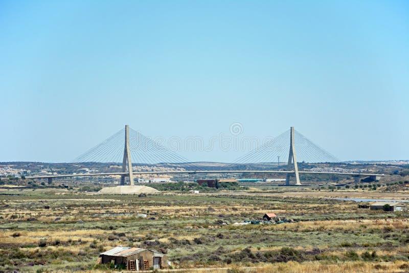 Guadiana zawody międzynarodowi most, Castro Marim zdjęcia royalty free