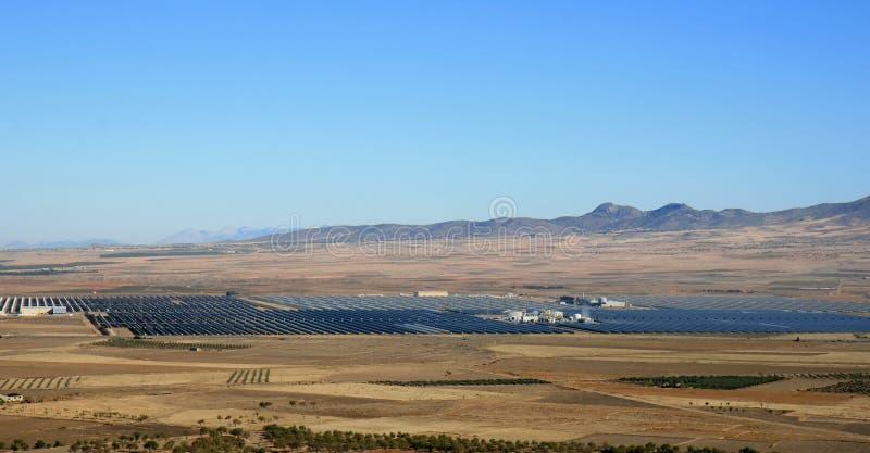 Guadix słoneczna termiczna elektrownia, Hiszpania obrazy royalty free