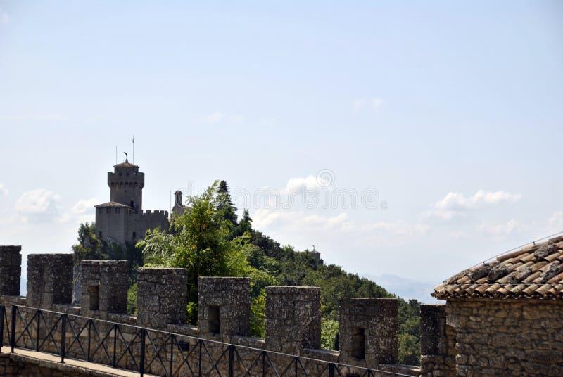Guaita,the first tower of San Marino Republic stock photo
