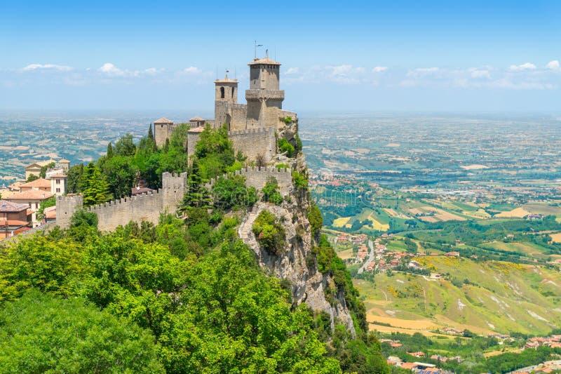 Guaita forteca na Monte Titano obrazy stock