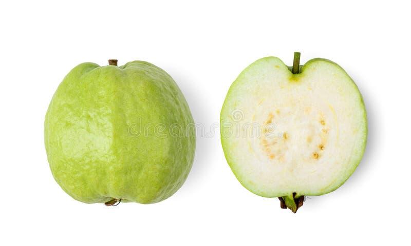 Guajava-Frucht lokalisiert auf wei?em Hintergrund lizenzfreie stockfotos