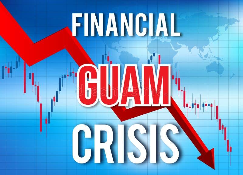 Guam Financial Crisis Economic Collapse Market Crash Global Meltdown. Illustration vector illustration