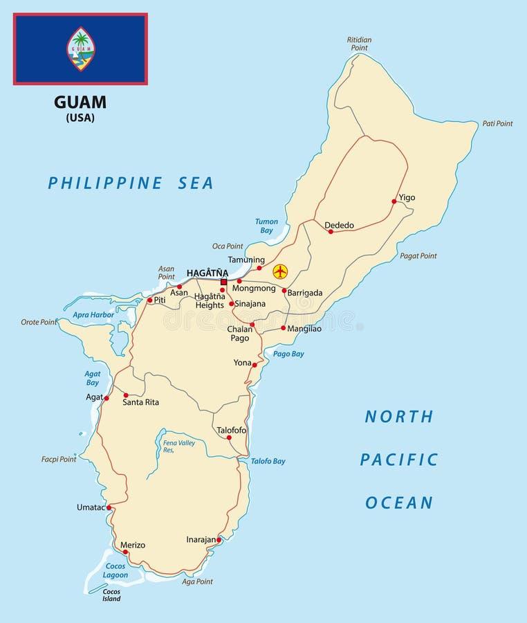 Guam mapa ilustracji
