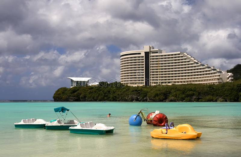 Guam, Marshall Islands. Relaxing in Guam, Marshall Islands royalty free stock images