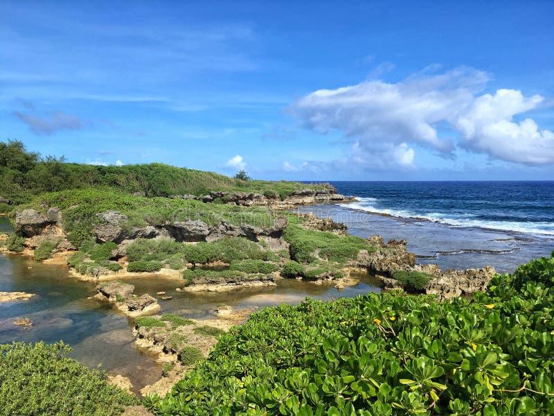 Guam nature. Guam rocky beach. Micronesia. US Territory royalty free stock images