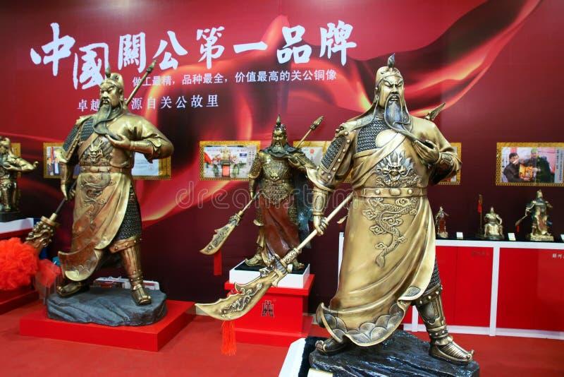 Download Guan Gong bronze statue editorial image. Image of exhibit - 27480100