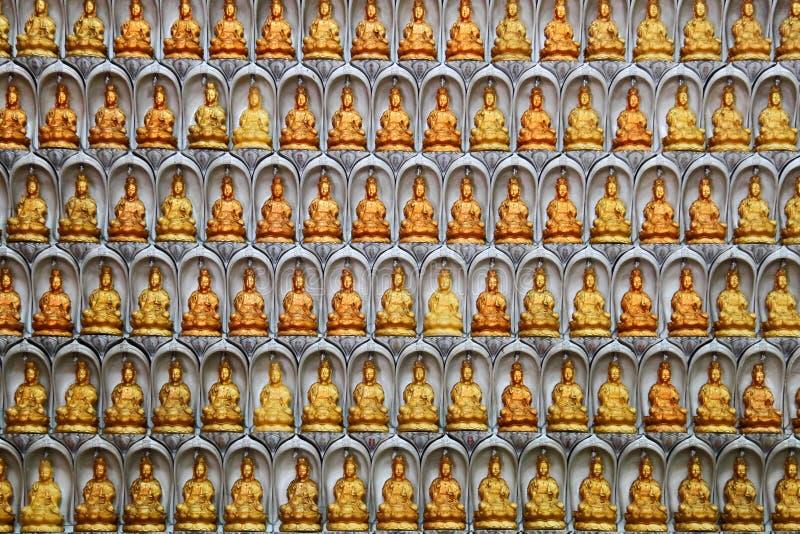 Guan Yin雕象墙壁  库存照片