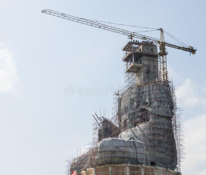 Guan Yin en construction photographie stock libre de droits