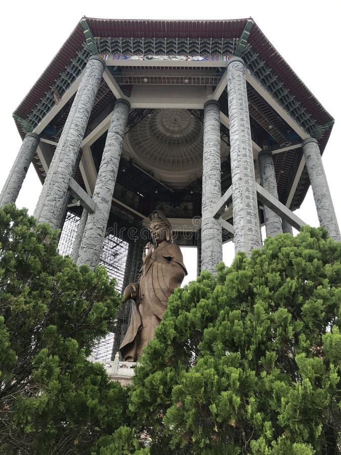 Guan Yin Ma Statue de bronze enorme foto de stock royalty free