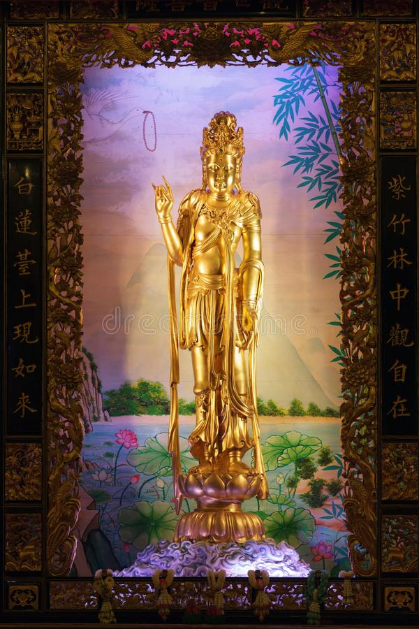 Download Guan yin statue stock photo. Image of illuminated, bangkok - 25253004