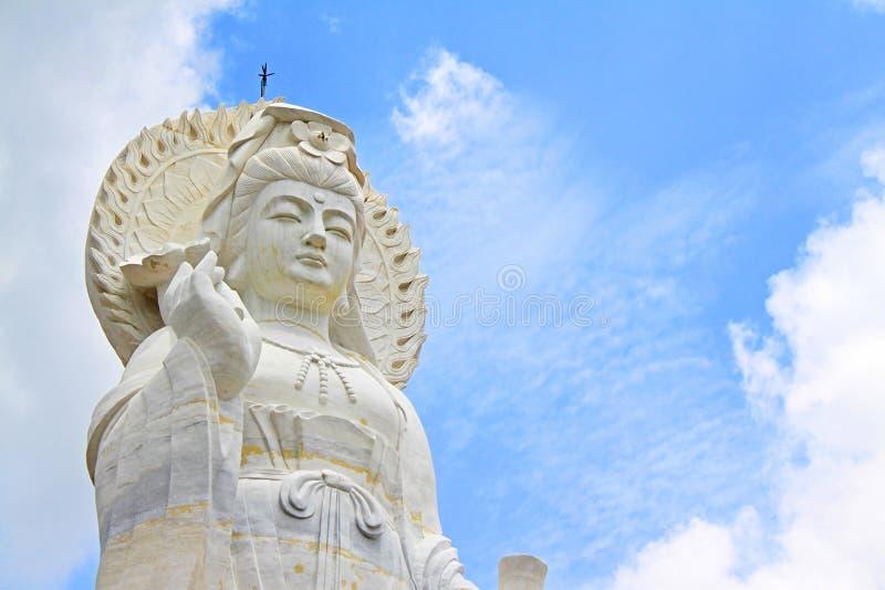 Guan Yin Temple, het Gemeentelijke Park van Hatyai, Hatyai, Thailand royalty-vrije stock fotografie