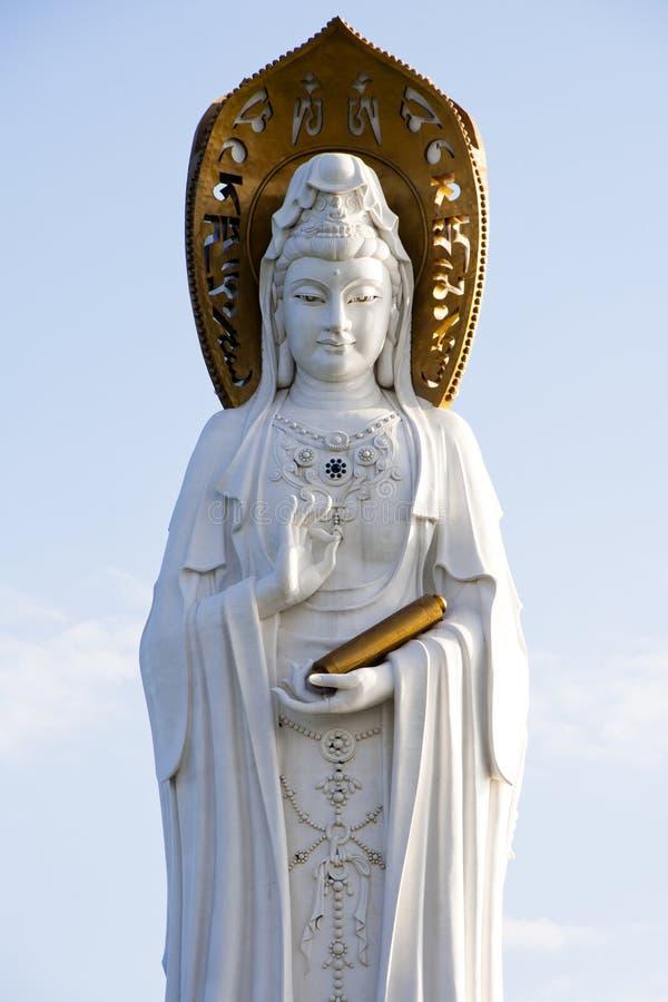Guan Yin van het Overzees van het Zuiden van Sanya royalty-vrije stock afbeeldingen