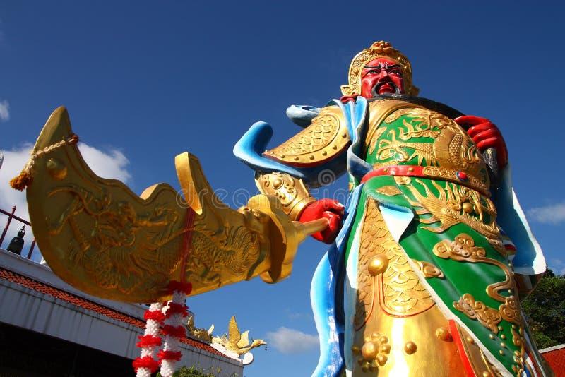 GUAN-YU statue. GUAN-YU - the Chinese God of War (Chinese mythology stock photo