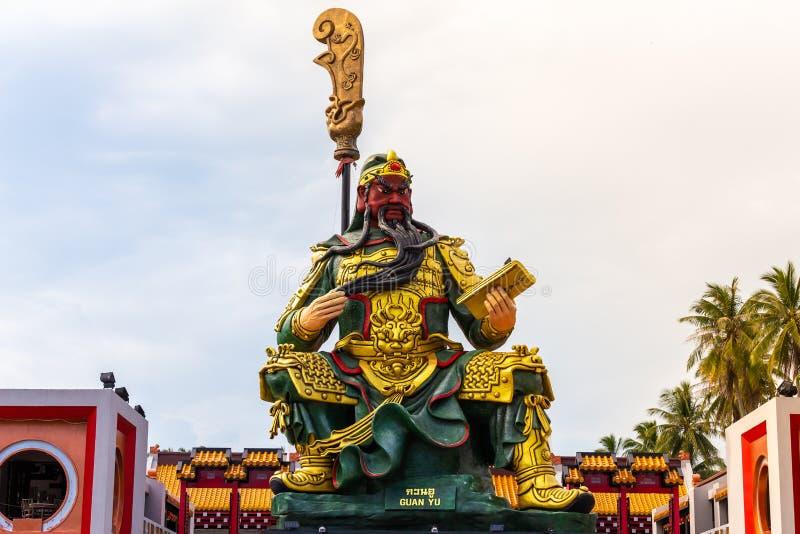 Guan yu Chinese` s god of honesty, Landmark at Koh Samui,Surat Thani,Thailand.  stock images
