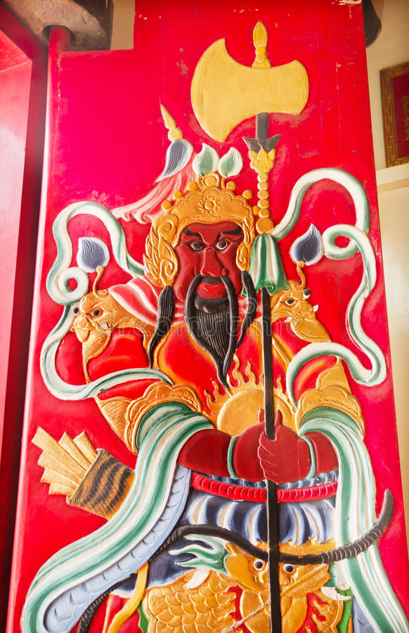 Guan Yu Door Tin Hau Temple Sea Godess Hong Kong royalty free stock image