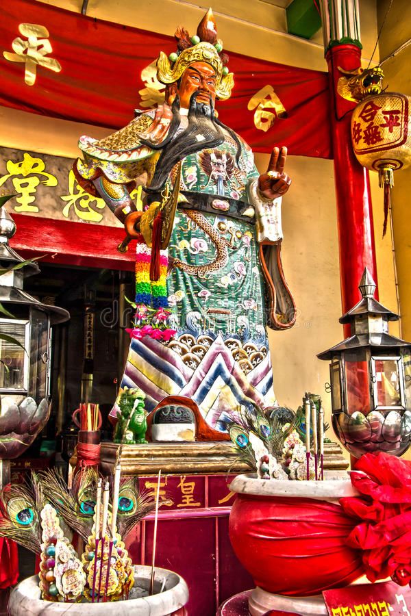 Guan Yu Statue. The God of War from Chinese mythology Guan Yu was a Chinese military general whose martial prowess royalty free stock images