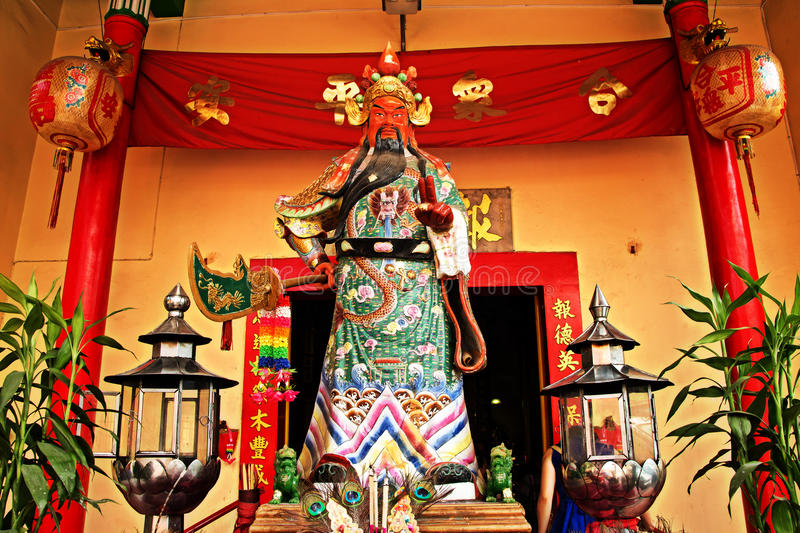 Guan Yu Statue. Guan Yu,the God of War from Chinese mythology Guan Yu was a Chinese military general whose martial prowess stock images