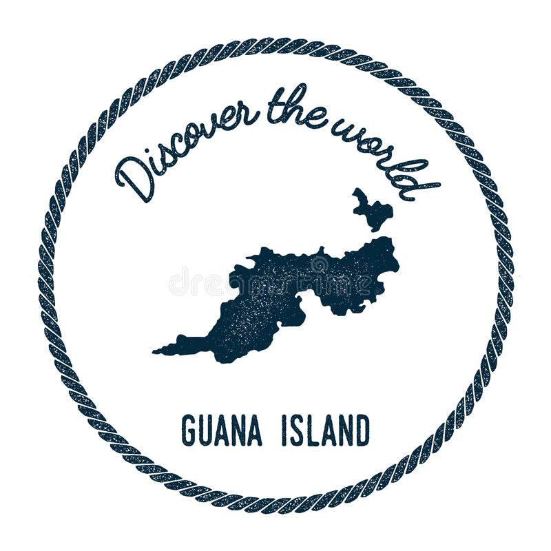 Download guana island map in vintage discover the world stock vector illustration of retro