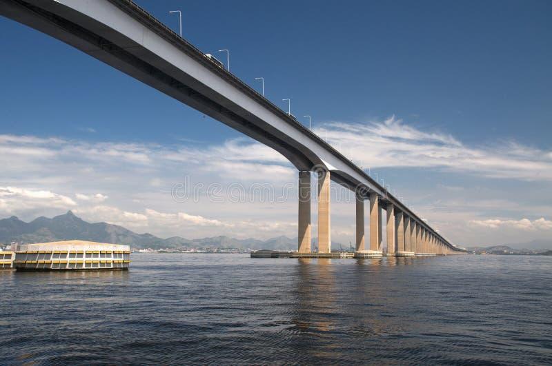 Guanabara Bay Bridge royalty free stock images