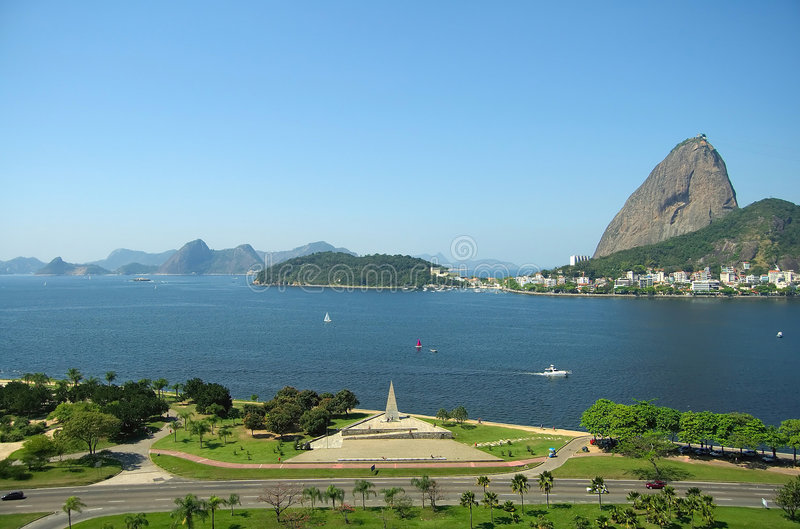 Guanabara Schacht und Zucker-Laib stockbild