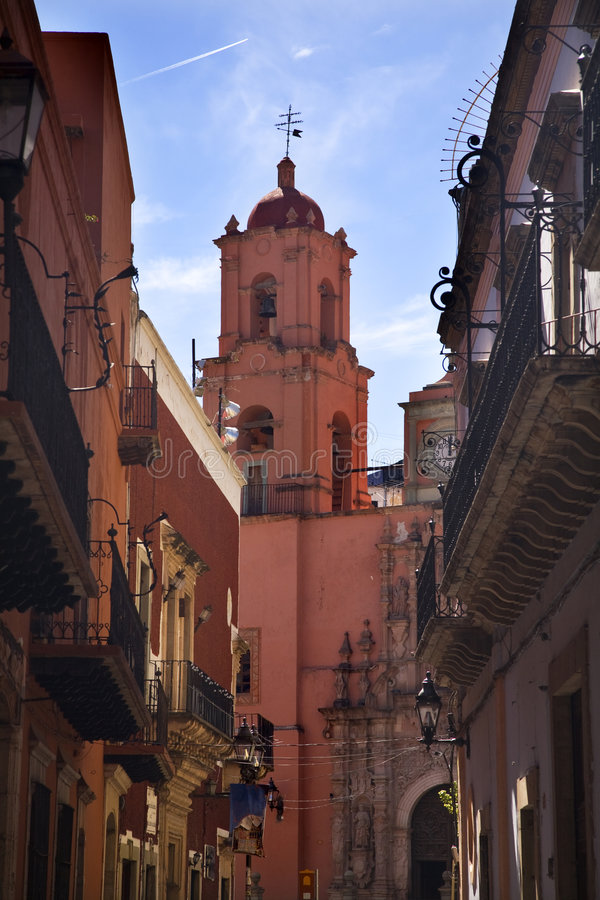 guanajuato Μεξικό ρόδινο SAN Francisco εκκλη&sig στοκ εικόνες