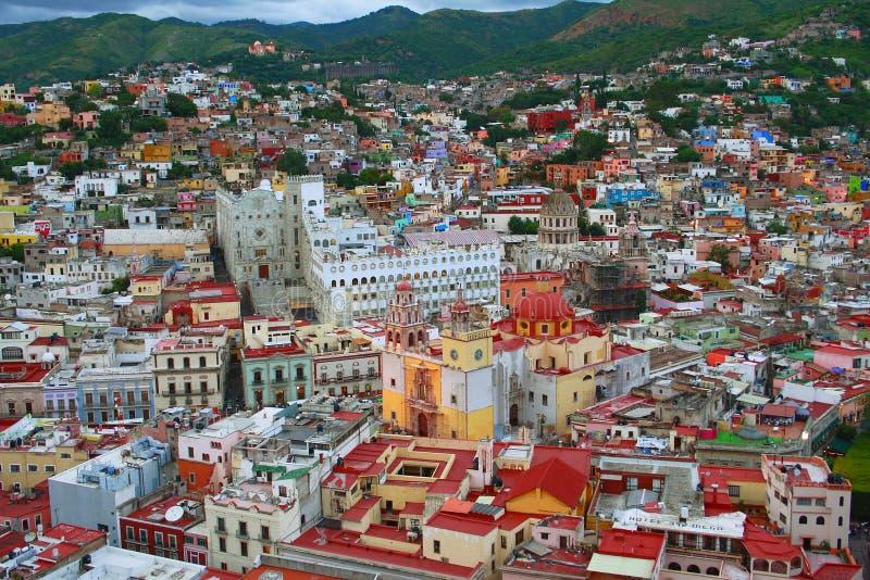 Guanajuato Antenne lizenzfreies stockfoto