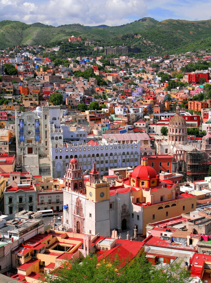 Guanajuato downtown stock image