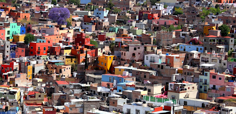 Guanajuato, GTO City, Mexico neighborhood. royalty free stock images
