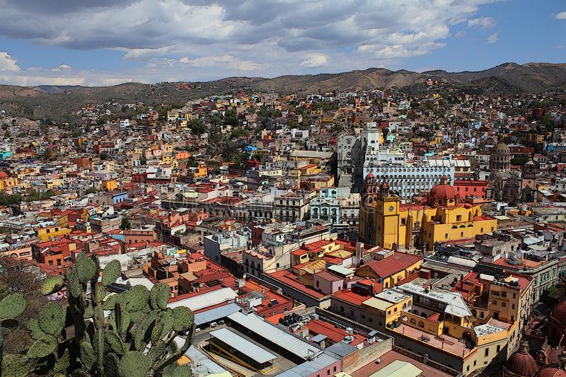Guanajuato, Mexico view of the city. stock photography