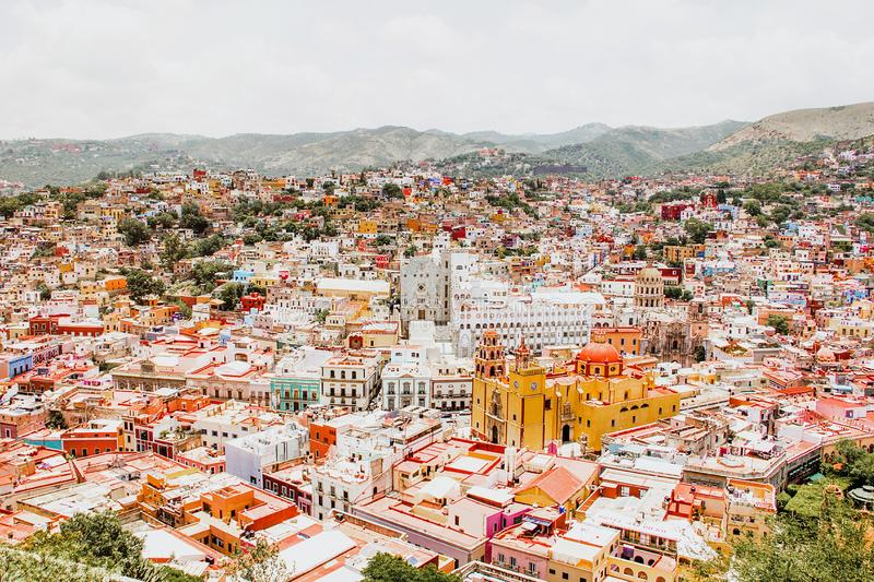 Guanajuato mexico, View of a colorful mexican city royalty free stock photos