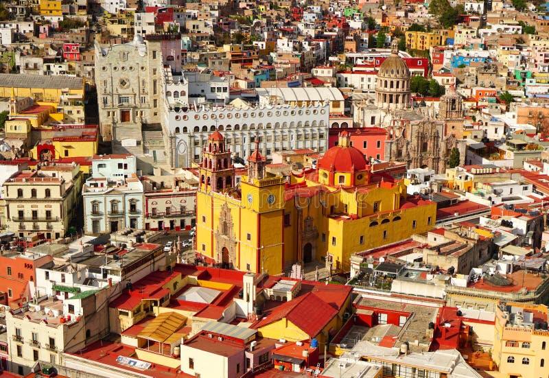 Guanajuato Mexico view during noon stock photos