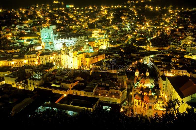 Guanajuato na noite México fotografia de stock royalty free