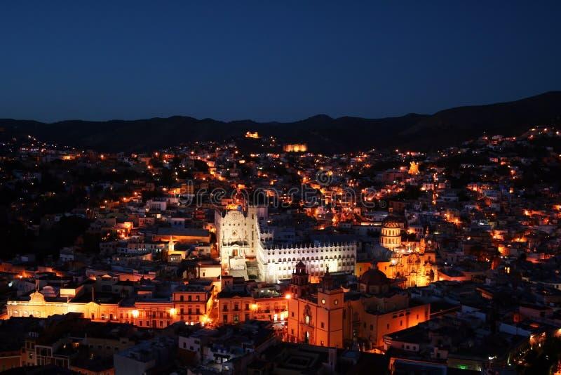 Guanajuato by night stock photos