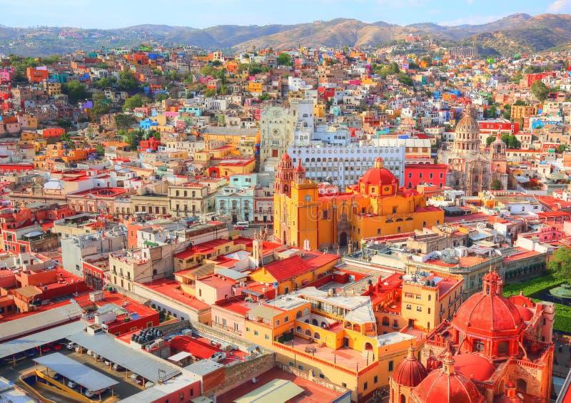 Guanajuato, sceniczny punkt obserwacyjny miasto zdjęcia royalty free