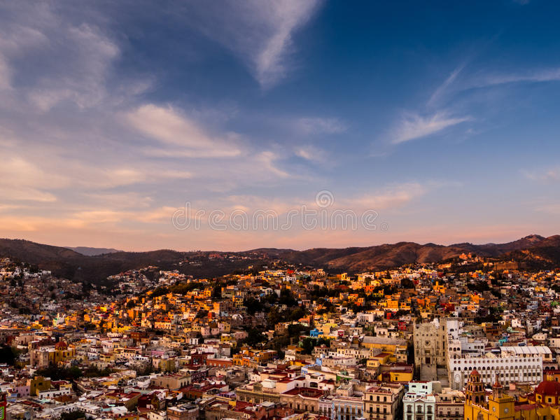 Guanajuato Stadt im Stadtzentrum gelegen lizenzfreie stockfotografie