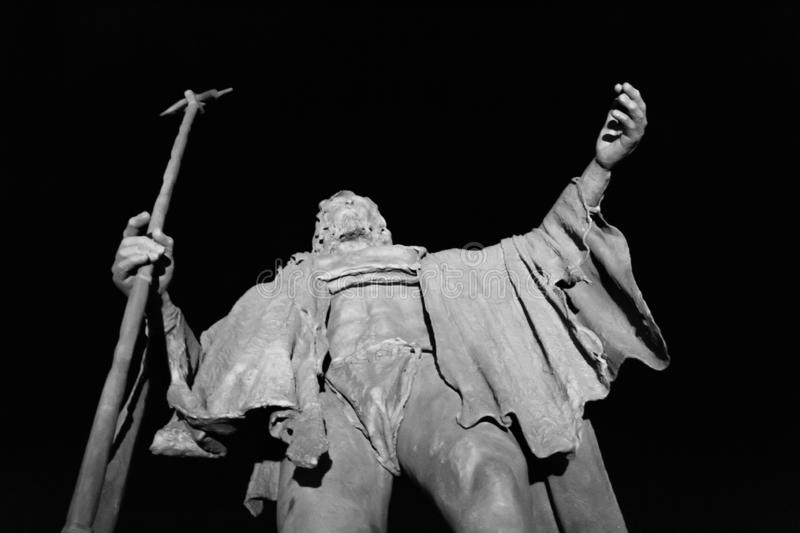 Guanches king in Candelaria stock photos