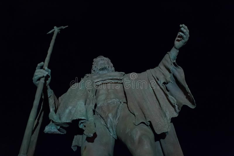 Guanches king in Candelaria stock photography