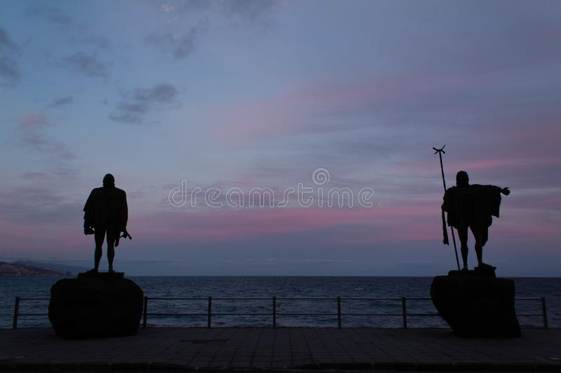 Guanches kings in Candelaria stock photo